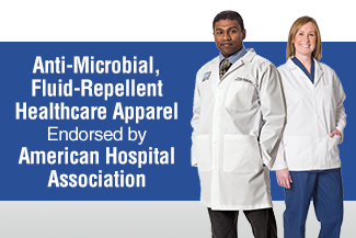 Anti-Microbial, Fluid-Repellent Healthcare Apparel Endorsed by American Hospital Association