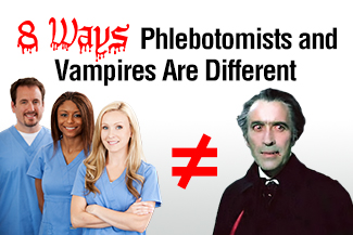 8 Ways Phlebotomists and Vampires Are Different